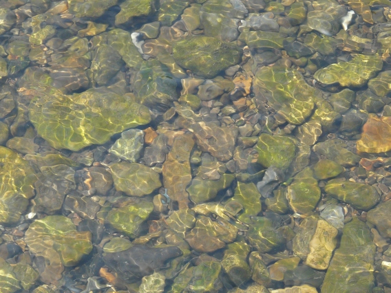 Menden, Flussgeröll in der Hönne