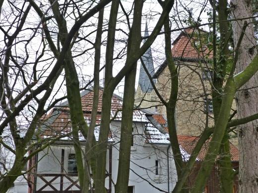 Menden, Teufelsturm und Vincenzkirche vom Ostwall aus