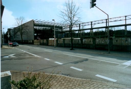Menden, Bodelschwinghstr. / Poststr. mit ehem. Walzwerk