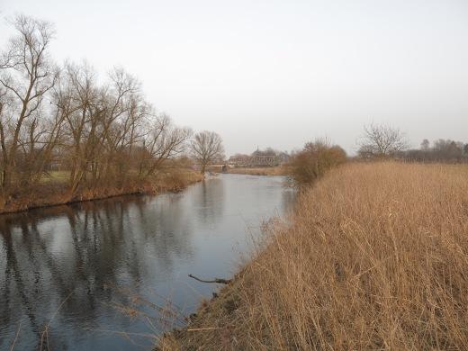 Menden-Bösperde; Ruhr unterhalb der Hönnemündung