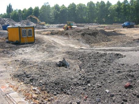 """Menden, Großbaustelle """"Hönneinsel"""" , 2004"""