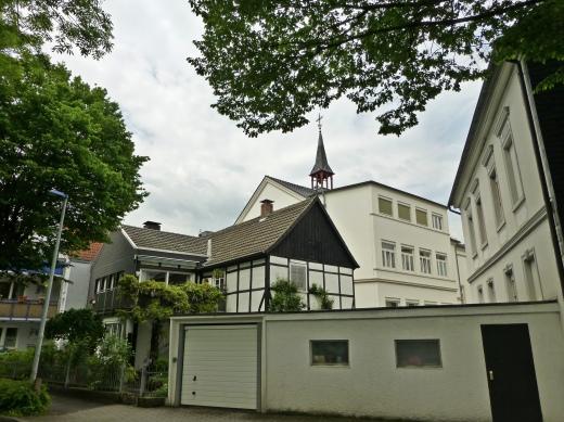 Menden, Südwall mit Blick auf Vinzenzstr.