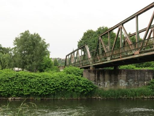 Bahnbrücke über die Ruhr  vor Fröndenberg