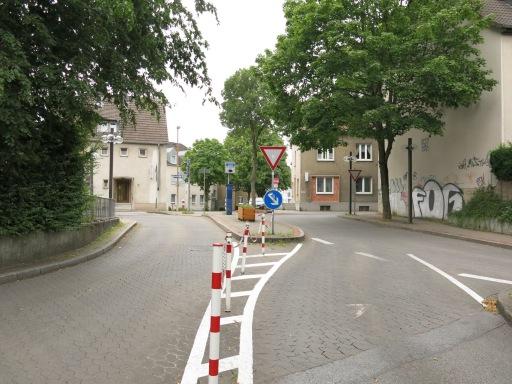 Menden, Ausfahrt Rathaus-Tiefgarage