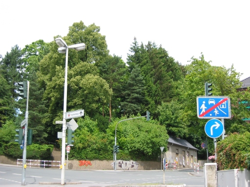 Menden, Südwestzipfel des Kath. Friedhofs
