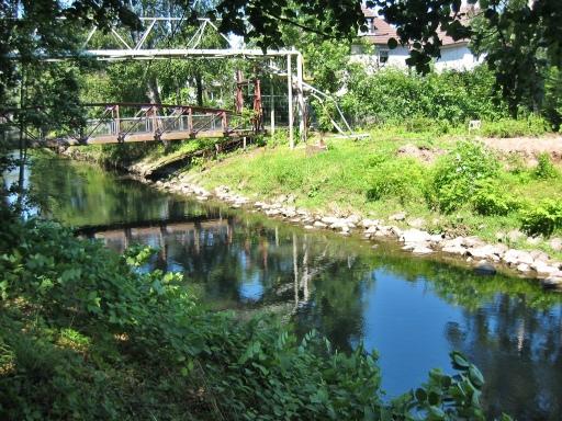 Menden, ehemalige Schmöle-Brücke über die Hönne