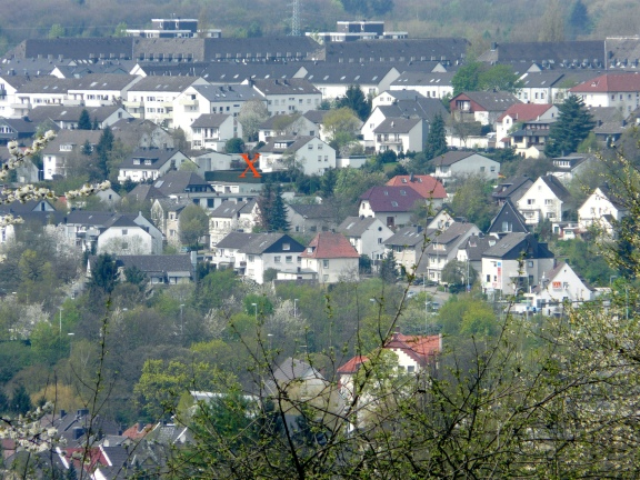 Menden, von Südosten auf das Wohngebiet zwischen Klevesberg und Papenbusch
