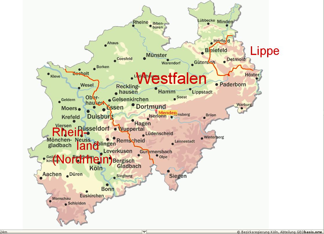 Karte Nrw - Bonn Karte Deutschland