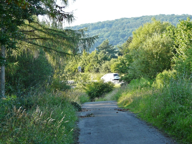 Menden, Waldweg nahe B515n-Überführung an Intzestr.
