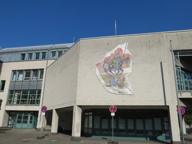 Mosaik an Fassade des Ratssaals