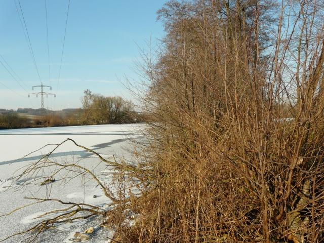 gefrorene Ruhr in Höhe Ententeich