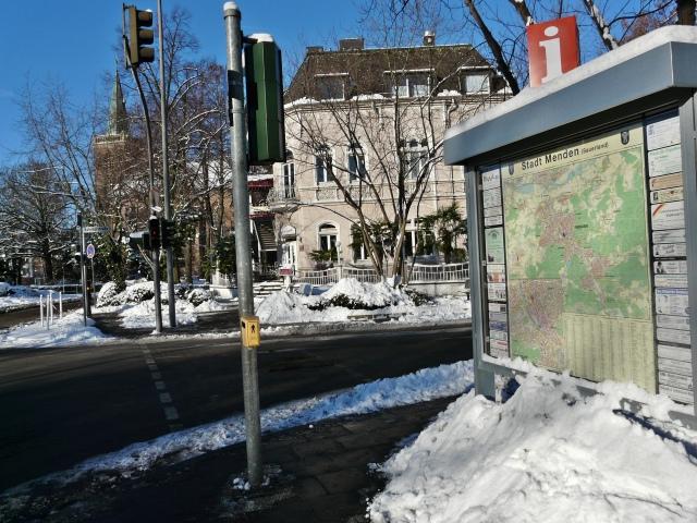 Stadtplan an Kreuzung Bahnhofstr./Westwall/Walramstr.