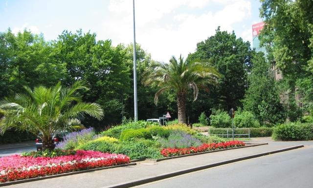 Blumendreieck am unteren Westwall