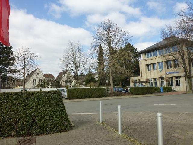 Einmündung Pastor-Quade-Str. in Poststr.; hinten Hördinger Kamp