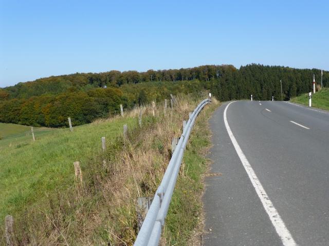 Mendener Abschnitt der K 29, höchster Punkt der Straße