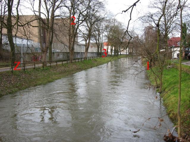 von Brücke Kaiserstr.; vor Hönneaufweitung