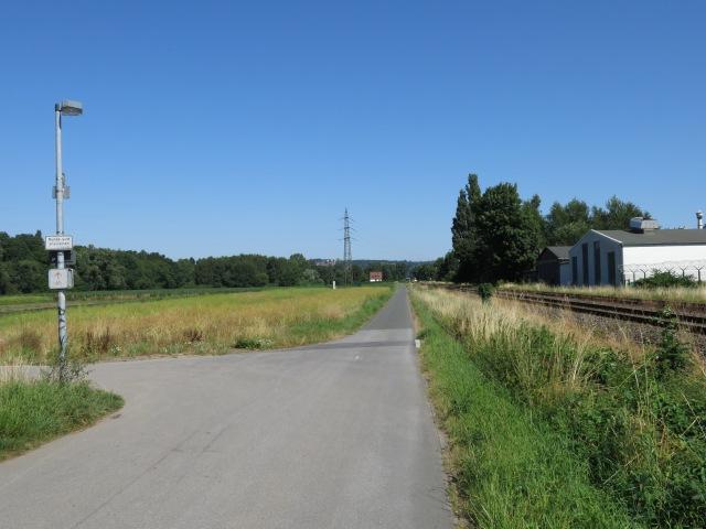 Hönneradweg am Abzweig zur Molle-Brücke [heißester Tag 2013]
